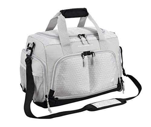 Ultimate Gym Bag 2.0: The Durable Crowdsource Designed Duffel Bag with 10 Optimal Compartments Including Water Resistant Pouch (Grey