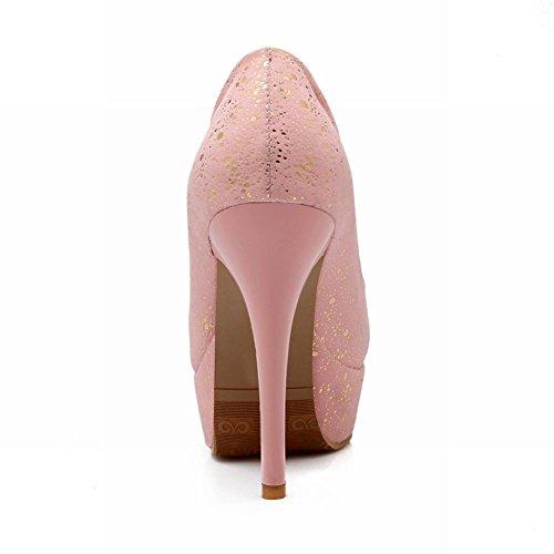 Carol Shoes Fashion Womens Dancing Party Sweet Elegance Bridal Wedding Platform High Stiletto Heel Dress Pumps Shoes Pink xcoJs231cZ