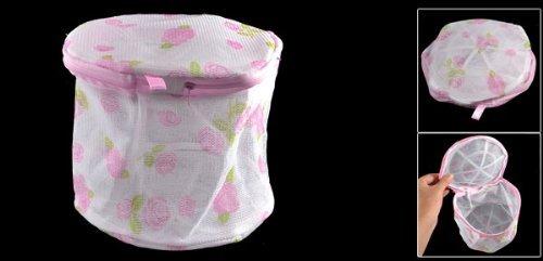 Amazon.com: Estructura de plástico impresión Floral de la ropa Interior plegable reticular Lavado Blanco del bolso