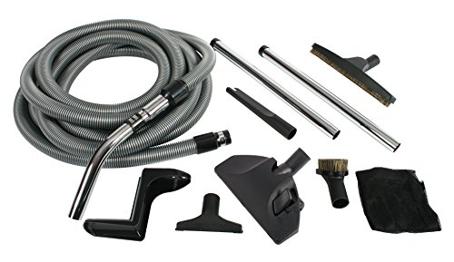 Cen-Tec Systems 91431 Complete Central Vacuum Accessory Kit with Metal Wands (Central Vacuum Attachment)
