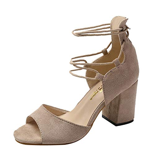 LandFox Comfortable, Fish Mouth High Heel Cross Shoes,Womens for sale  Delivered anywhere in USA