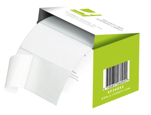 Q Connect 89x36mm Self-Adhesive Address Label (Roll of 250) Pack of 200