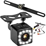 #7: 12LED Car Backup Camera - Rear View Camera HD Night Vision Reverse Camera 170° Viewing Angle, Easy to Install License Plate Back up Car Camera Or Bracket Mount Reversing Camera - Fits All Cars