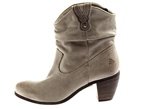 Damenschuhe Grey Lederstiefel Light Cowboy BULLBOXER 6756 Grey Ankle Boot Light Style xqEaW7CTPw