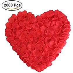 Red Rose Petals Silk Flower for Wedding Proposal Decorations 2000PCS by NewStarFire(Red)