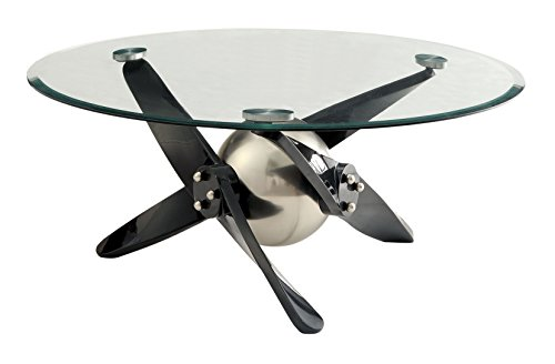 HOMES: Inside + Out IDF-4169C Harper Coffee Table, Black For Sale