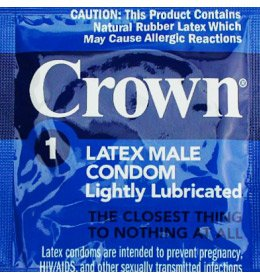 Crown Skinless Skin Condoms By Okamoto Premium Ultra Thin Super Sensitive Latex Condoms and Silver Pocket/Travel Case-24 Count