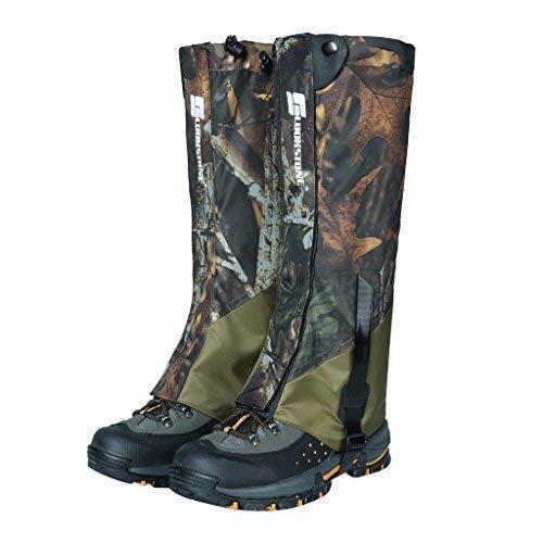 Hunting Camo Snow (Sanmum Camo Snow Legging Gaiters Leggings Covers Waterproof Boot Gaiters for Outdoor Hiking Walking Hunting Trekking)
