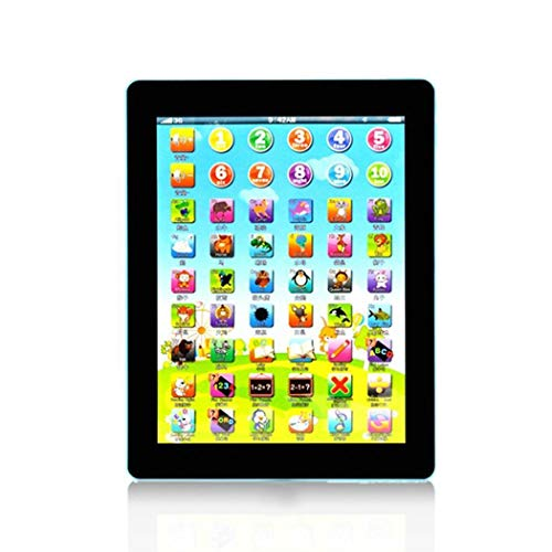 MAMOIU Mini Children Multi-Function Learning Touch Tablet Pad Computer Education Toy Electric ipad for Babies Electronic Learning Toys(7.7 x 0.6inch) Electronic Learning Toys(Random Color)