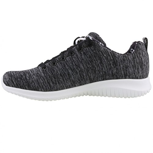 Ultra Flex-First Choice, Zapatillas para Mujer, Negro (Black/White), 40 EU Skechers