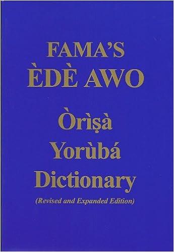 FAMA 39:S Ede Awo (Orisa Yoruba Dictionary)