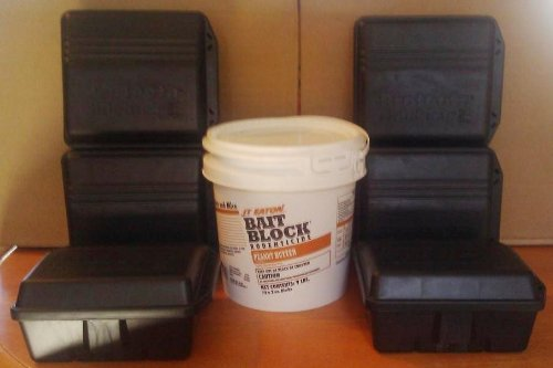 Blox Rat - Protecta Sidekick Tamper Proof Rat Bait Stations Case of 6 Stations Rodent Control and 9 Lbs Jt Eaton Blox Rat and Mouse Bait