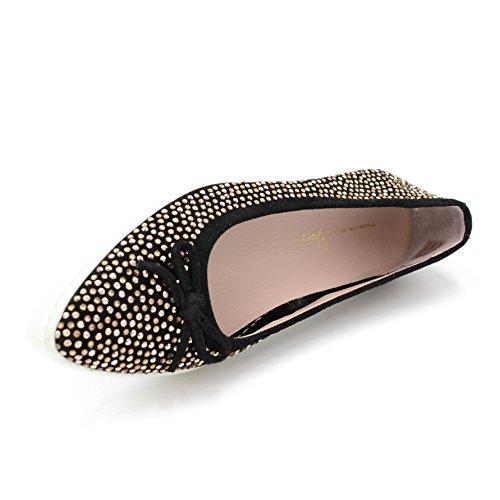 Negro Tosca EU Bailarinas 37 Shoes Blu qvvtwxP0