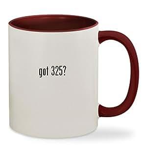 got 325? - 11oz Colored Inside & Handle Sturdy Ceramic Coffee Cup Mug, Maroon