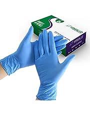 VENSALUD - Wegwerp NITRILE handschoenen. Stofvrij. Doos met 100 handschoenen. Kleur: blauw.