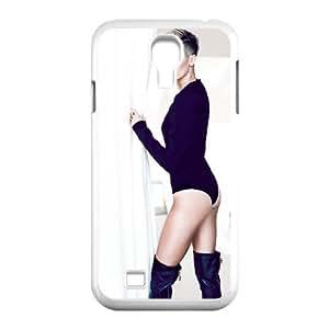 Samsung Galaxy S4 Case Miley Cyrus Cover Design for Men, Samsung Galaxy S4 Case Tyquin, [White]