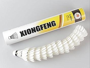 a007b71c80dba Lot de 12 Volant de Badminton Training Sport plume d'oie blanche Birdies  pour les