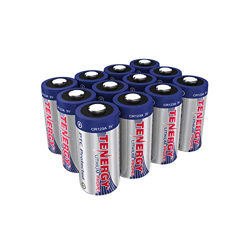 Tenergy Propel 3V CR123A Lithium Battery, High Performance CR123A Cell Batteries PTC Protected for Cameras, Flashlight Replacement CR123A Batteries, 12-Pack (Not For Arlo Camera)