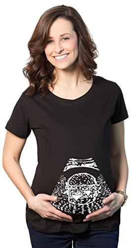 Crazy Dog TShirts - Womens Ultrasound Burger Maternity T Shirt Funny Pregnancy Tee - Camiseta De Maternidad