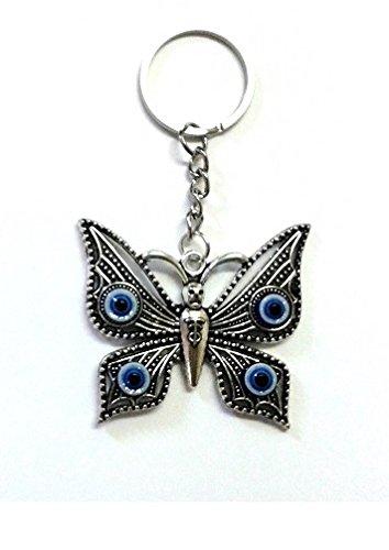 Desconocido Llavero mariposa con ojo turco: Amazon.es ...