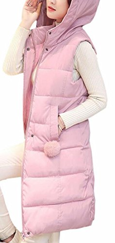 Coat Pink Zip Hoodie UK Hot Midi Brd Winter Vest Womens Jacket Down Outwear wqxvORCT