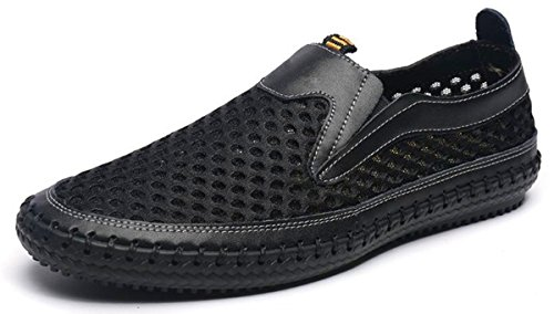 - MIXSNOW Men's Water Shoes Mesh Casual Walking Shoes Slip-On Loafers WDBlack39
