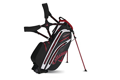Callaway 2015 Aqua Dry Golf Stand Bag, Black/Red/White (Callaway Chev Stand Bag compare prices)