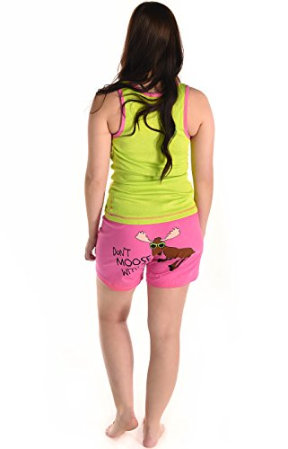 LazyOne Junior Mujer Don't Moose with Me Pijama Boxers