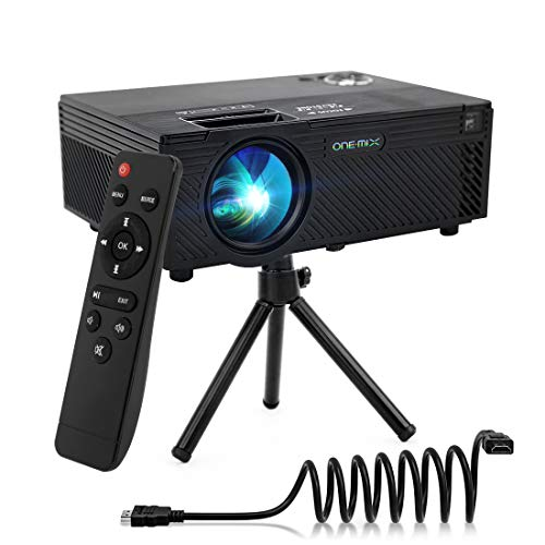 Video Projector | 2400 Lumens Home Video Projector | Mini Projector with Stand | Theater Projector Supports 1080P | HDMI VGA AV USB Micro SD for Home Entertainment, Party