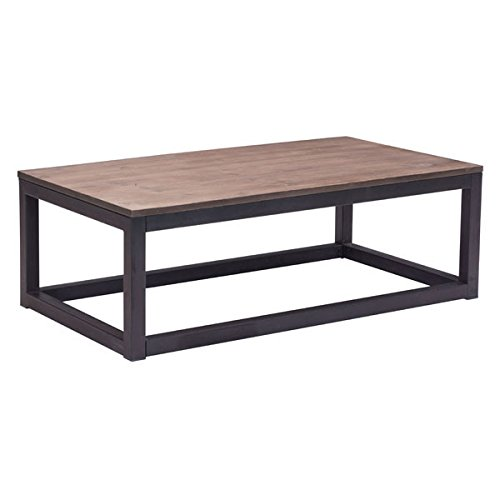 Civic Center Long Coffee Table, Distressed Natural
