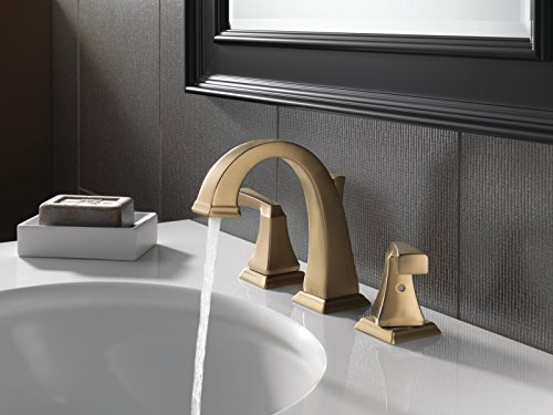 Delta 3551LF-CZ Dryden 2-Handle Widespread Bathroom Faucet with Metal Drain Assembly, Champagne Bronze by DELTA FAUCET (Image #1)