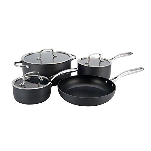 Hamilton Beach 7pc Hard Anodized Cookware Set, Quantanium PFOA Free 3 Layer Non-Stick