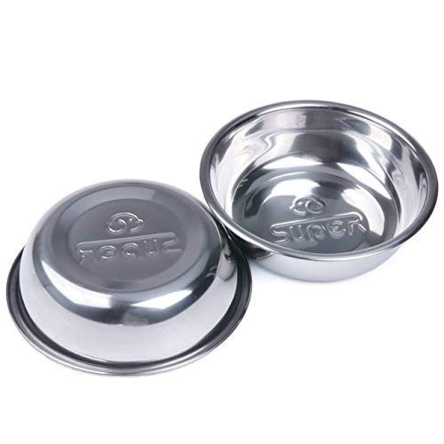 Super Design Two Piece Replacement Stainless Steel Bowls for Pet Feeding Station, for Dogs and Cats, 1 Cup