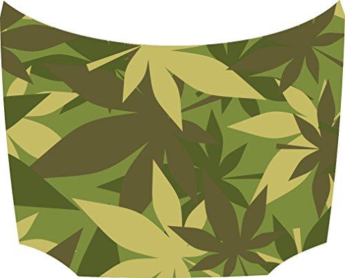 Bonnet Sticker Camouflage Cannabis: