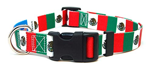 - PatriaPet Dog Collar with The Mexico Flag | Great for National Holidays, Special Events, Festivals, Independence Days and Every Day Strong Safe | XSmall Small Medium Large XLarge