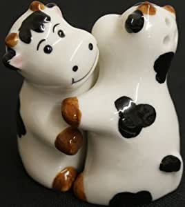 Hugging Cows Salt and Pepper Shakers by Ruby Thursday