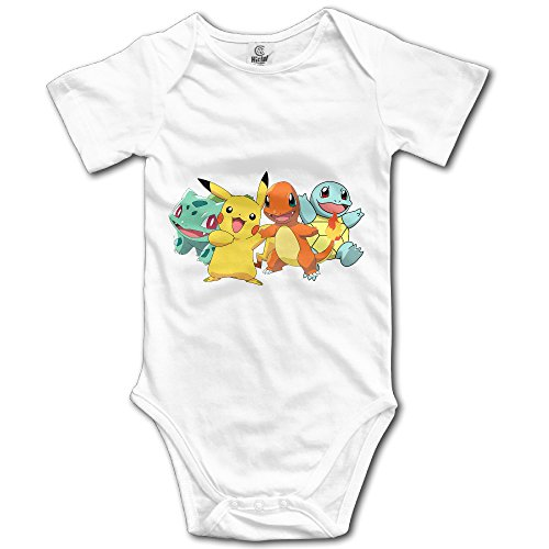 Price comparison product image Pokemon Pikachu Charmander Squirtle Cute Baby Onesie Bodysuit