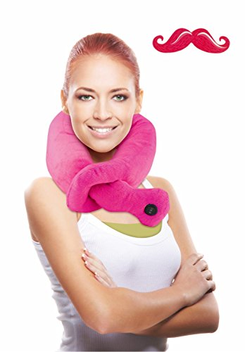 New 2 Speed Pink Neck Massager and Mustache Nail File Novelty Top Big Birthday Present Idea High School Girlfriend Her Daughter Niece Sister Best Inexpensive Cute Funny Silly Stocking Stuffer Supplies