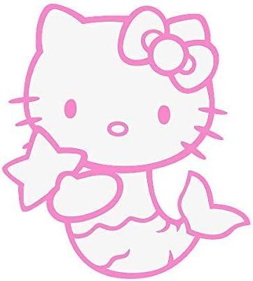 Adhesivo 127/mm de ancho Color: Blanco Bumper vinilo adhesivo adhesivos de Hello Kitty para ventanillas de coche