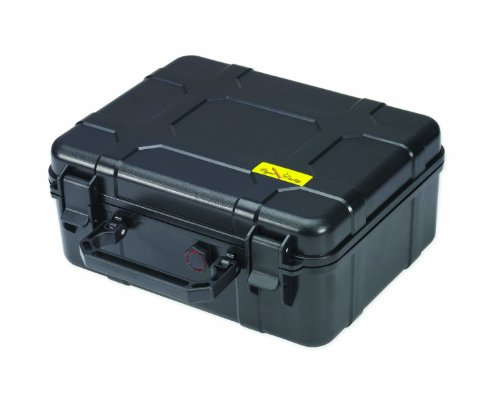 Cigar Caddy 40 40-Cigar Waterproof Travel Humidor, Black (Plastic Travel Humidor)