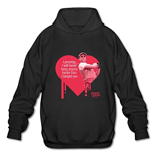 BOOMY Scream Queens Heart Man's Hooded Sweatshirt SIZE XL
