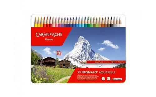 Lápis Aquarelável Caran D'Ache Prismalo 30 Cores, Caran D'Ache, 0999330, 30 Cores