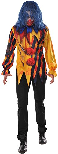 Clown Makeup Killer Costume (Rubie's Costume Co. Men's the Killer Clown Costume, As Shown,)