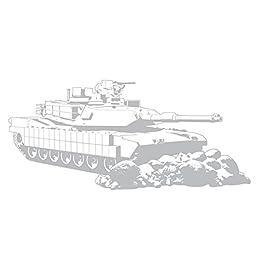 Military Tank Giant Wall Applique Decor Sticker (48x21)