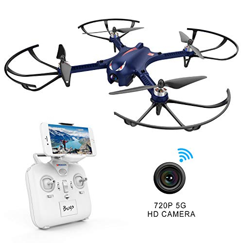 DROCON Blue Bugs 3 Brushless Motor Quadcopter Drone for Beginners and Experts – 18-20 Mins Long Working Time – 300 Meters Long Control Range -Drone with Camera 5G