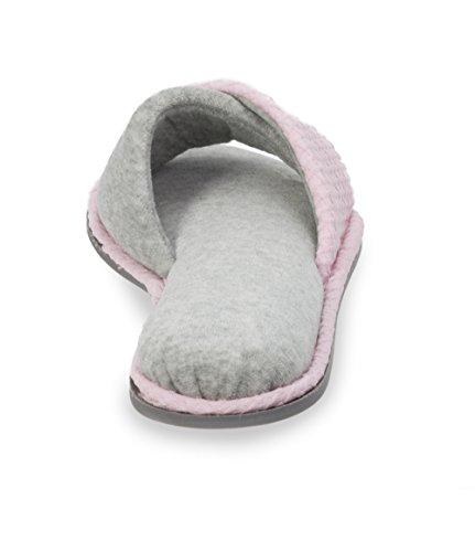 Dearfoams Textured Twist Knist Twist Vamp Slide Slipper Fresh Pink