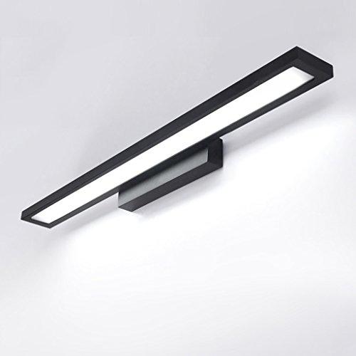 (LIGHT Vanity Mirror Mirror Bathroom Wall Lamp, LED Mirror, Bathroom Mirror Simple Modern Toilet Bathroom Waterproof Mirror - Black [Energy Class A+])