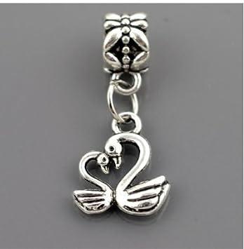 J*myi DIY antiker Silber Schmuck Style Glasperlen, handgemachte Perlen Armband-material (B-S, 10PCS)