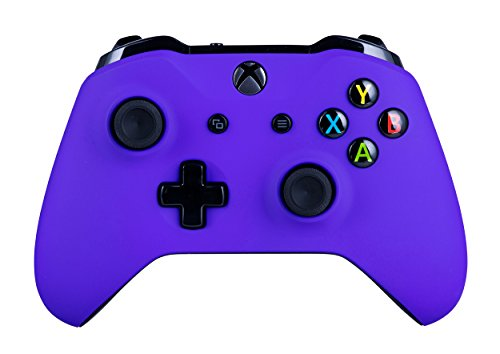 Xbox One S Wireless Controller for Microsoft Xbox One - Soft Touch Purple X1 - Added Grip for Long...