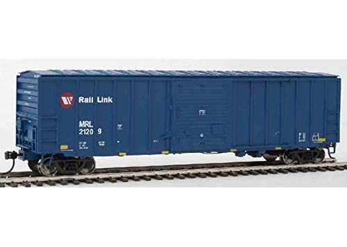 50' ACF Exterior-Post BOXCAR - Ready to Run - Montana Rail Link 21209 (Blue, RED, White, RED Circle Logo) ()